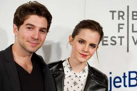 Aguire and Emma Watson at the Tribeca Film Festival