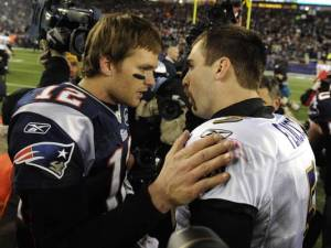 We believe Tom Brady will once again show Joe Flacco the door