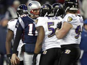 Tom Brady and Ray Lewis fight over the bill