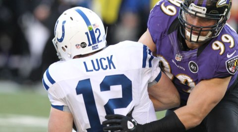 Andrew Luck had a lot of really good turf-level views in this game