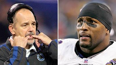 Chuck Pagano and Ray Lewis have been among the most searched NFL news itens this week