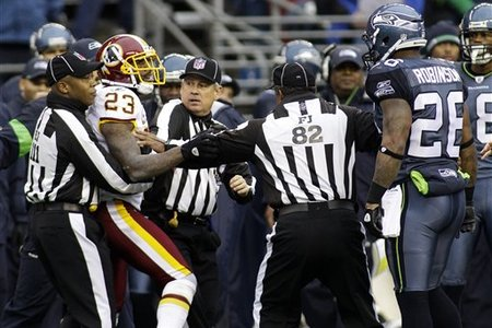 The Redskins / Seahawks game could get tense quickly