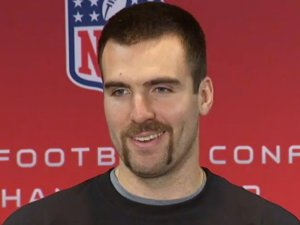 Joe Flacco can't wait to be the center of attention.  America sort of returns the sentiment...