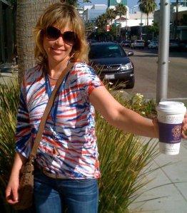 Comedian Lynn Shawcroft in Beverly Hills
