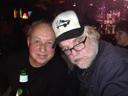 Jim with the late Philip Seymour Hoffman