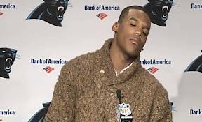 For the third straight year, Carolina Panthers quarterback Cam Newton leads the league in unnecessary postgame posturing