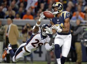 The Rams' lone touchdown was scored by Kenny Britt, a wide receiver that for some reason the folks in the NFL's front office was not able to sneak onto St. Louis' roster