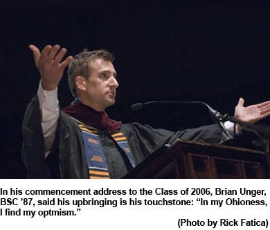 17716Undergraduate Commencement 2006 Speaker Brian Ungar